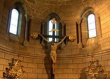 Jesus sulla traversa Fotografie Stock Libere da Diritti