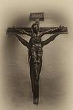 Jesus sulla traversa Fotografia Stock
