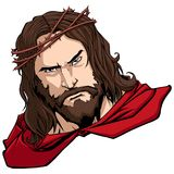 Jesus Superhero Portrait Immagine Stock
