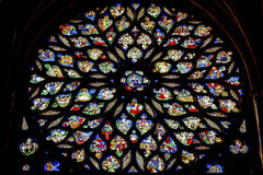 Jesus Sword Rose Window Stained Glass Sainte Chapelle Paris France Royalty Free Stock Photography