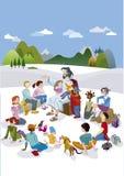 Jesus Talking ai bambini verticali Immagine Stock Libera da Diritti