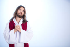 Jesus talking with God. Looking up to sky Stock Photography