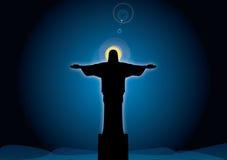 Jesus tegen de hemel vector illustratie