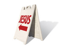 Jesus Tent Sign Stock Photography