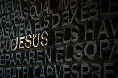 Jesus text on wall Royalty Free Stock Photo