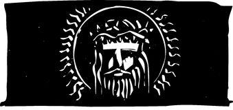 Jesus with Thorn Crown Stock Images