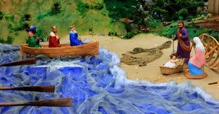 Jesus and three wise man Stock Image