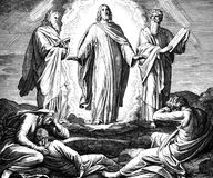 Jesus Transfiguration Lizenzfreie Stockfotos
