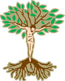 Jesus Tree. Jesus' crucifixion incorporated with a tree vector illustration