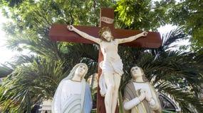 Jesus in tropical Asia Stock Photo