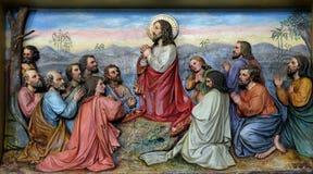 Jesus und Apostel im Ölberg Stockfoto