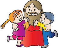 Jesus und Kinder Stockfotografie