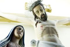 Jesus und Mary stockbild
