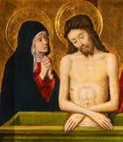 Jesus und Mutter Mary an Karfreitag stockfotos