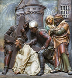 Jesus under cross Royalty Free Stock Photography
