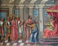 Jesus vóór Pontius Pilate Stock Fotografie