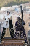 Jesus and the Veronica procession by basin, Spain stock photos
