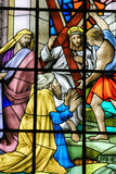 Jesus on the Via Dolorosa - Stained Glass Royalty Free Stock Image