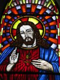 Jesus Vitral, iglesia del del Valle Margarita Island Vnezuela de Virgen Fotos de archivo libres de regalías