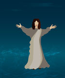 Jesus Walking on the water Royalty Free Stock Photos