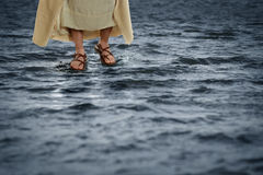 Jesus Walking on Water. Jesus walking on the waters royalty free stock photography