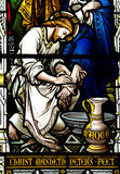 Jesus washing the feet of St. Peter. A photo of  Jesus washing the feet of St. Peter Royalty Free Stock Photos