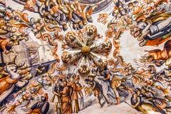 Jesus Way som korsar freskomålningfristaden av Jesus Atotonilco Mexico Royaltyfri Foto