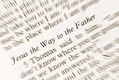 Jesus the Way to the Fahter Royalty Free Stock Photo