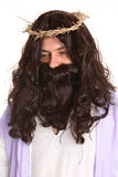 Jesus wearing crown of thorns Stock Photo