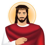 Jesus wearing crown of thorns. EPS 10 Stock Images