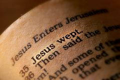 Free Jesus Wept Royalty Free Stock Photography - 4417247