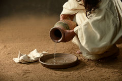 Free Jesus With A Jug Of Water Stock Photography - 28012132
