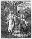 Jesus and the woman from Samaria Royalty Free Stock Photos
