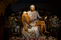 Jesus Wood Carving Photo stock