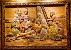 Jesus Wood Carving Photographie stock libre de droits