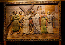 Jesus Wood Carving Photo libre de droits