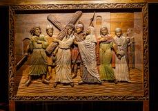 Jesus Wood Carving Photo libre de droits