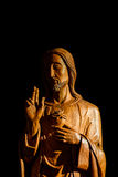 Jesus Wood Carving Photographie stock