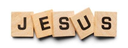 Jesus Wood Tiles stock photo
