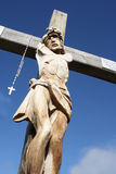Jesus. Wooden Jesus Siauliai Hill of Crosses in Lithuania Royalty Free Stock Images