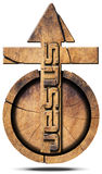 Jesus - Wooden Symbol with Cross Royalty Free Stock Photography