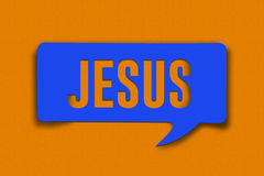 Jesus Word Bubble Stock Fotografie