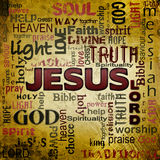 Jesus word cloud, grunge background Stock Photography