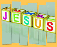 Jesus Word Show Son Of God And Messiah. Jesus Word Showing Son Of God And Messiah Royalty Free Stock Images
