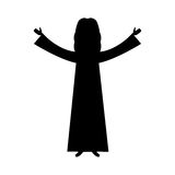 Jesuschrist character religious icon Royalty Free Stock Images
