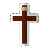 Jesuschrist on the cross avatar character icon Royalty Free Stock Photo
