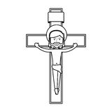 Jesuschrist on the cross avatar character icon Royalty Free Stock Image