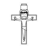 Jesuschrist on the cross avatar character icon Stock Photo