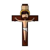 Jesuschrist on the cross avatar character icon Stock Photos