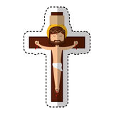Jesuschrist on the cross avatar character icon Stock Photography